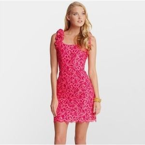 Lilly Pulitzer Mara Passion Pink Lace Layer Dress